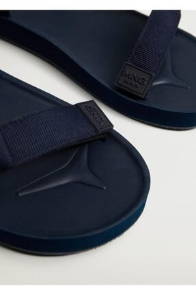 MANGO Man Cırt Cırtlı Sandalet