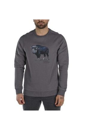 Columbia Erkek Gri Check The Buffalo Bugasweat Crew Iı Sweatshirt