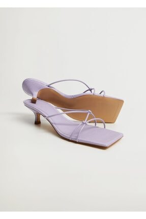 MANGO Woman Lilal Düğümlü Topuklu Sandalet