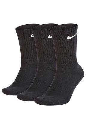 Nike Unisex Siyah Everyday Cush No-Show Çorap Seti 3'lü SX7676-010