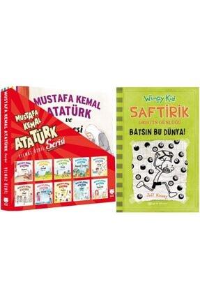Epsilon Yayınları Mustafa Kemal Atatürk Serisi 10 Kitap Takım + Saftirik Greg'in Günlüğü 8 - Batsın Bu Dünya!