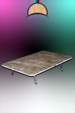 GÜMÜŞSOFRA Yer Sofrası Masası Dikdörtgen 70x120cm Metal Katlanır Ayaklı