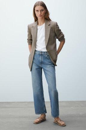 Massimo Dutti Kadın Orta Bel Straight Fit Jean 05074651