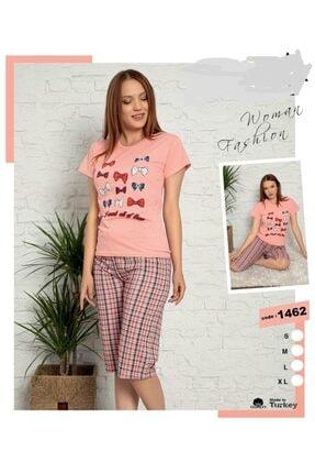 LİLA PİJAMA Pamuklu Kısakollu Pembe Pijama Takımı