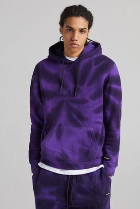 Bershka Kapüşonlu Batik Sweatshirt