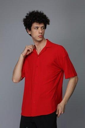 Rocqerx Erkek Oversize Kısa Kollu Penye Gömlek R-3255