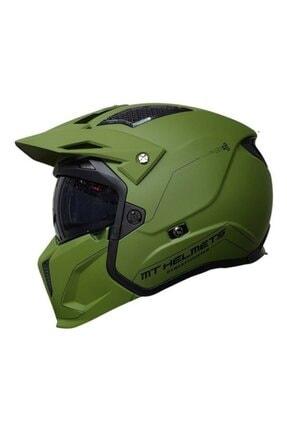 MT Helmets Mt Kask Streetfıghter Sv Solid A6 Matt Green