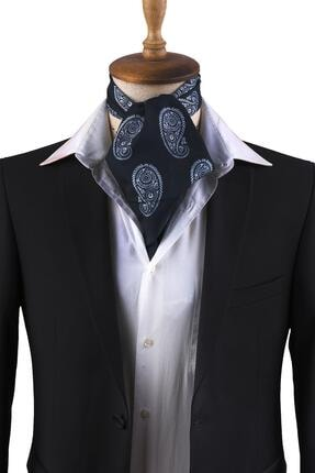 Kravatkolik Koyu Lacivert Şal Desen Erkek Fular K305