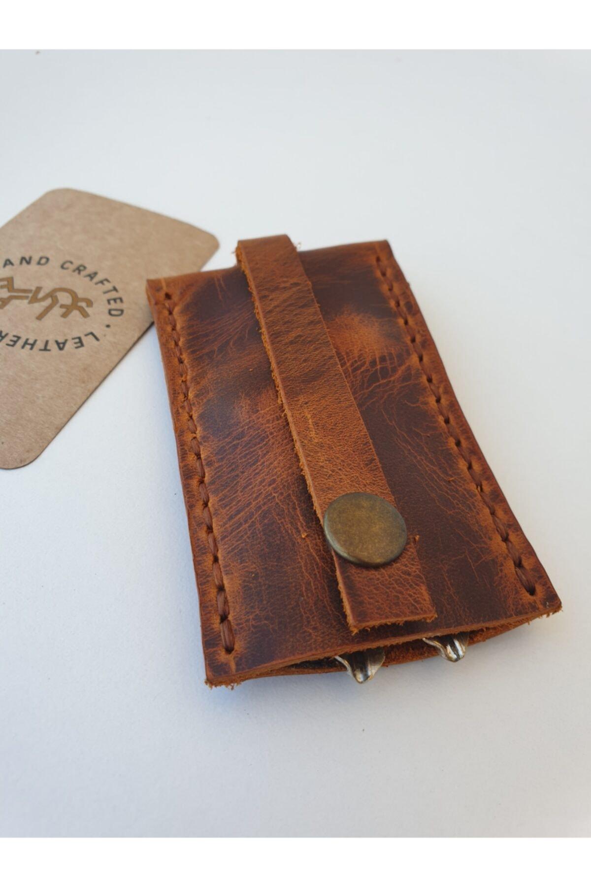 Lft Leather Craft El Yapımı Hakiki Deri Anahtarlık Cave Camel 2