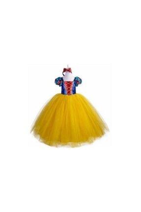 Mashotrend Tarlatanlı Pamuk Prenses Kostümü - Pamuk Prenses Kostümü Prenses Elbise - Pelerin +taç