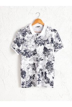 LC Waikiki Erkek Beyaz Baskılı Tişört 0SP290Z8