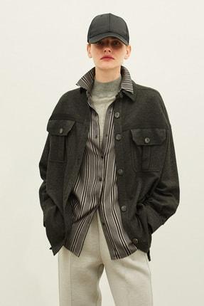 İpekyol Kadın Gri Oversize Ceket IW6200005135