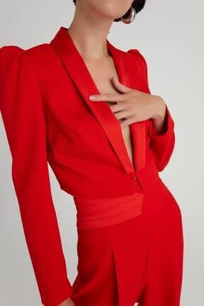 rue. Crop Blazer Kırmızı Ceket
