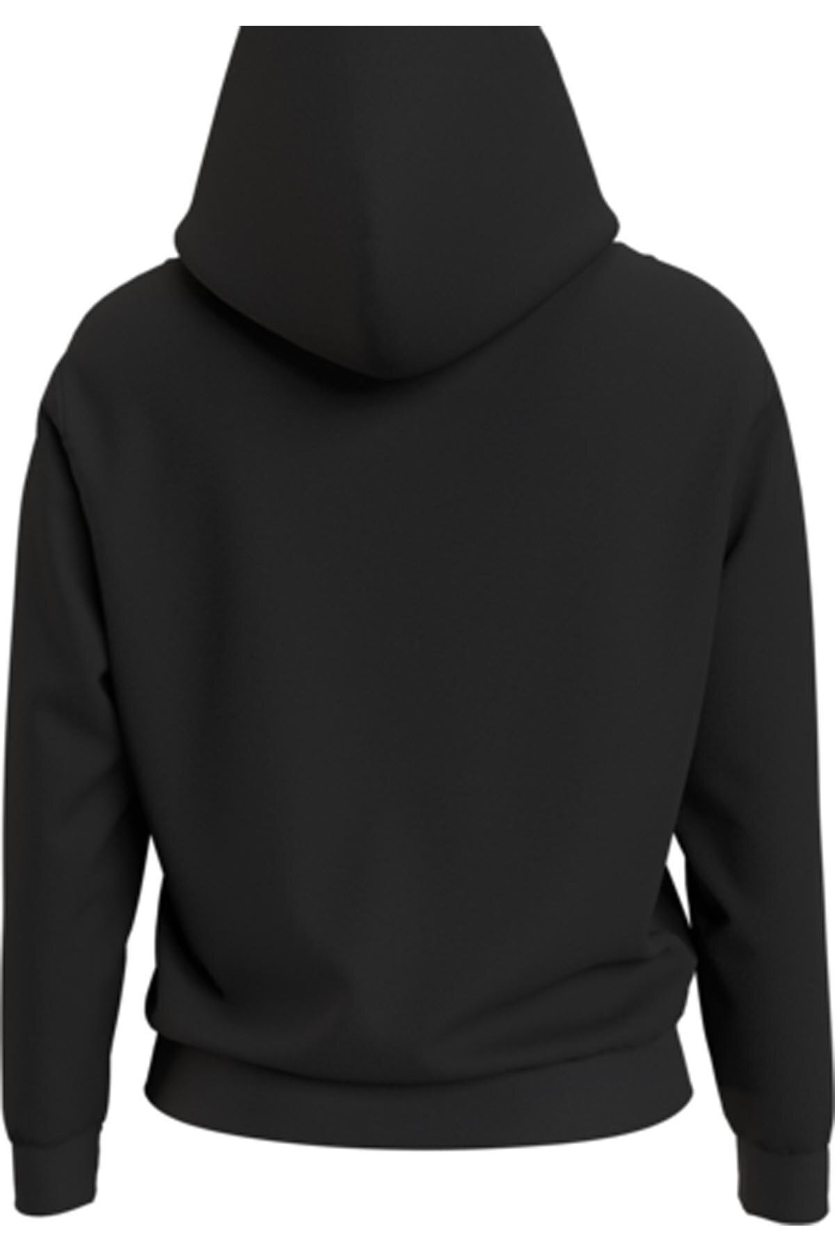 Tommy Hilfiger Kadın Siyah Sweatshirt Tjw Lınear Logo Hoodıe DW0DW08972 2