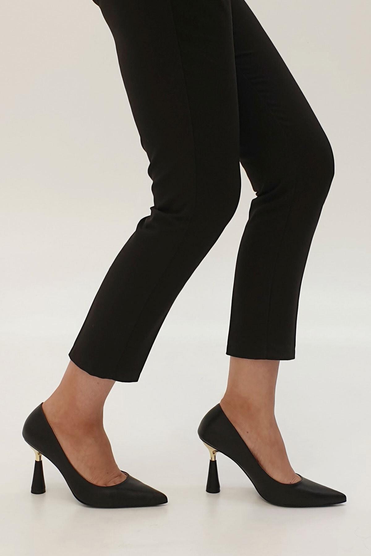 Marjin Kadın Estor Topuklu Ayakkabısiyah 1