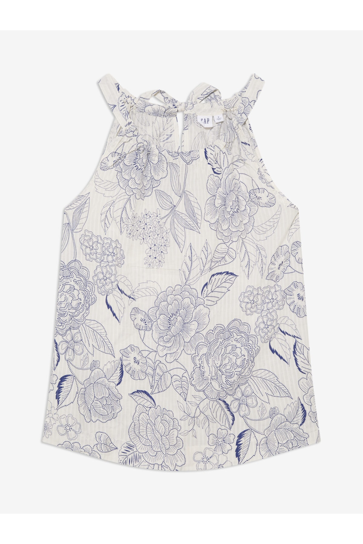 GAP Kadın Beyaz Desenli Kolsuz Bluz 1