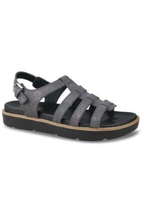 Ceyo Kadın Siyah Anatomik Taban Yazlık Sandalet 9966-2