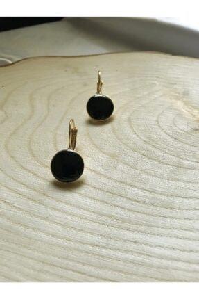 Accessories Siyah-gold Sallantılı Küpe