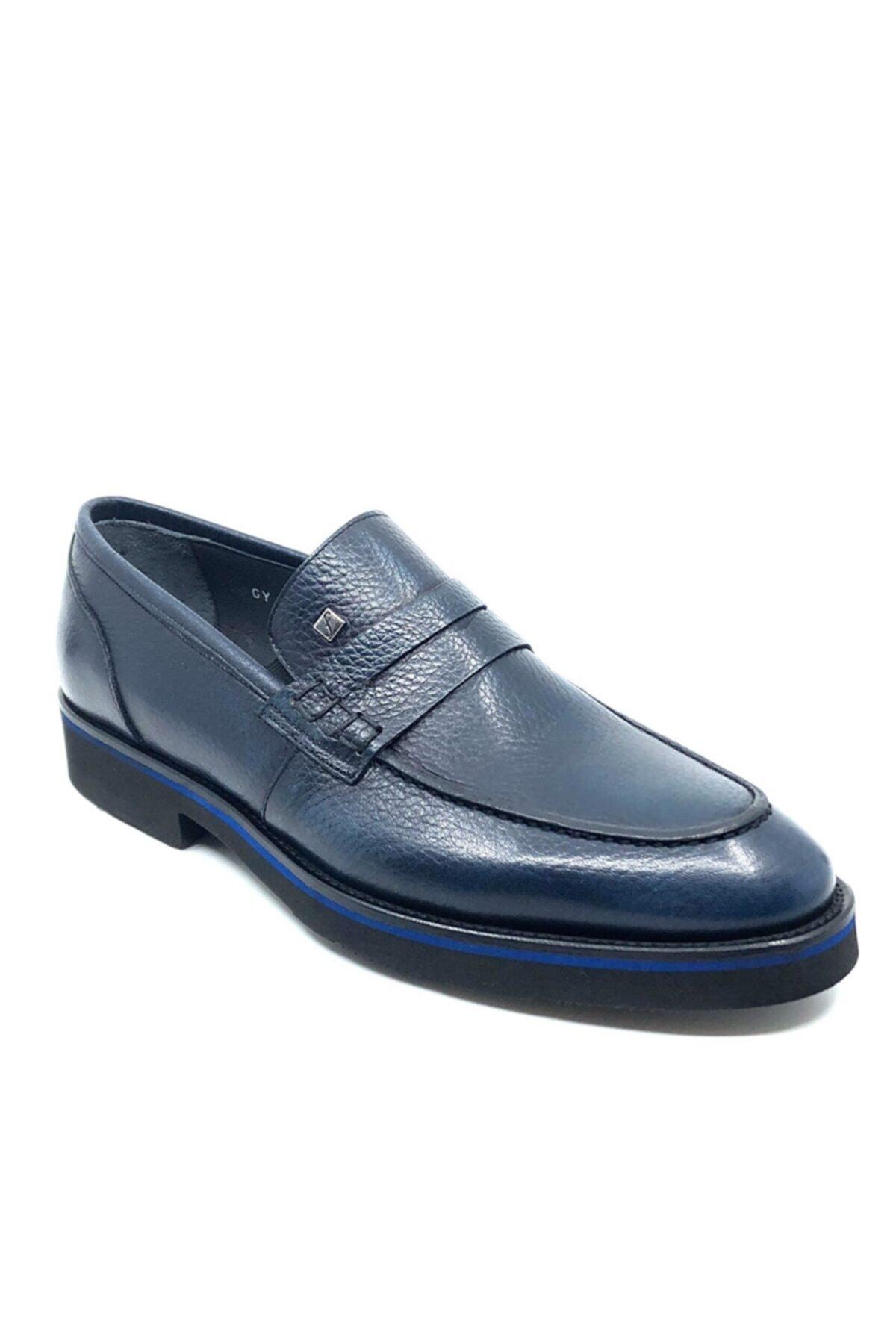 Fosco Hakiki Deri Erkek Ayakkabı  Mavi  1114 287 1