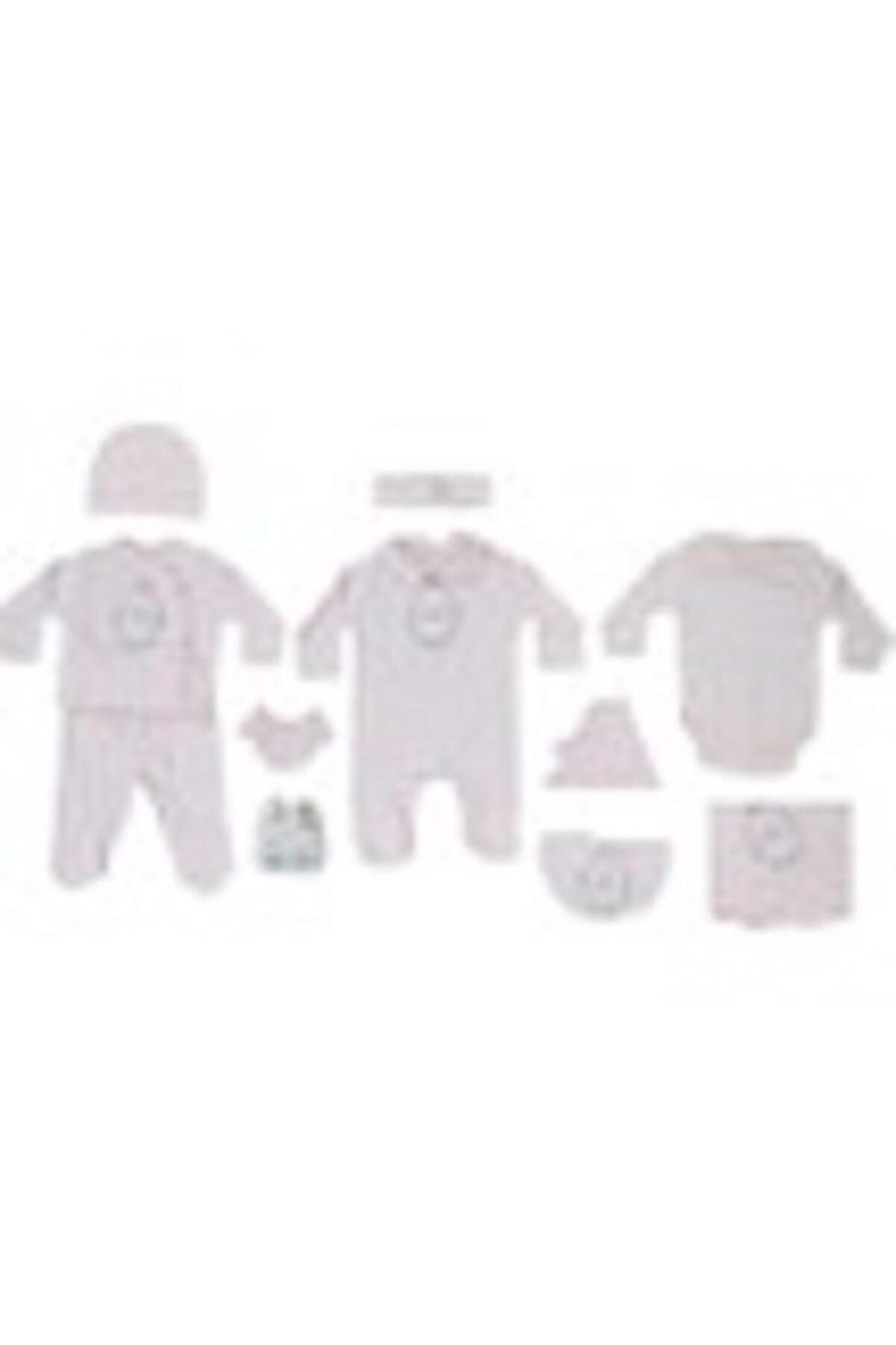 Eda Baby Kız Bebek Pembe 10'lu Hastane Çıkışı Zıbın Seti 2