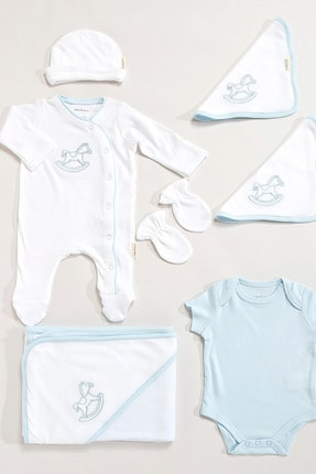 Chakra Pony Yeni Doğan Hastane Çıkışı Beyaz/Mavi