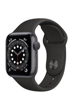 Apple Watch Series 6 Gps 44 Mm Uzay Grisi Alüminyum Kasa Ve Siyah Spor Kordon