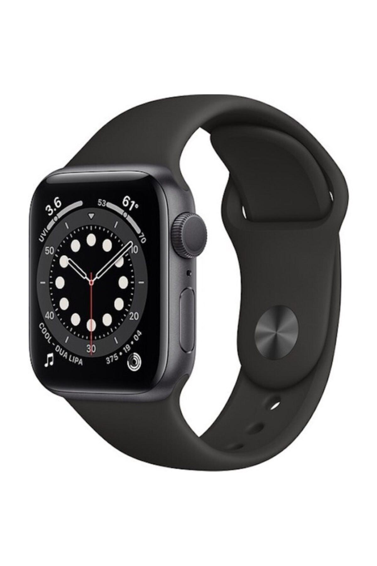Apple Watch Series 6 Gps 44 Mm Uzay Grisi Alüminyum Kasa Ve Siyah Spor Kordon 1