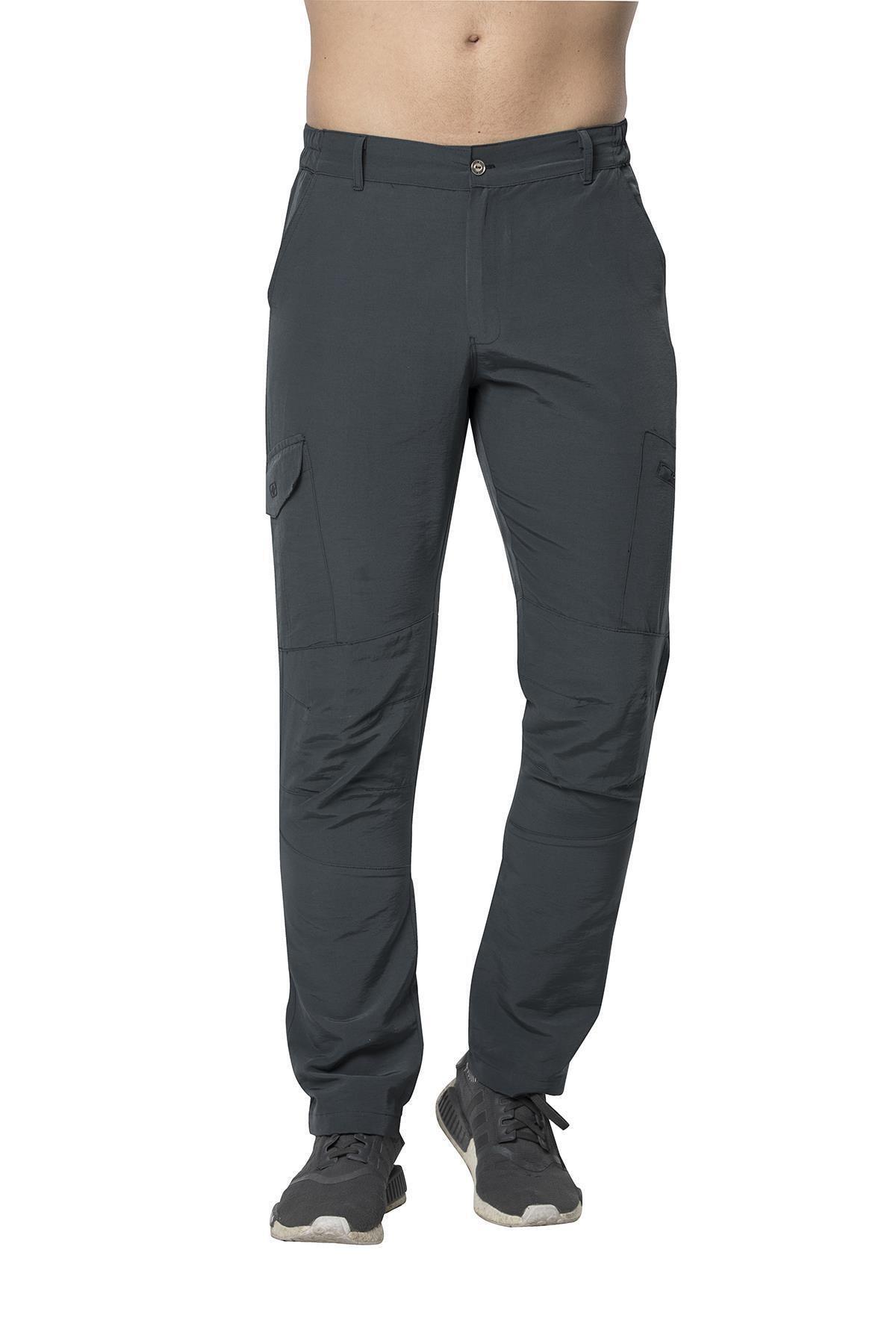 Crozwise Erkek Siyah Pamuk Polyester Outdoor Pantolon 1