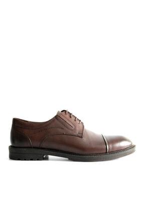 Beta Shoes Erkek Kahverengi Hakiki Deri Klasik Ayakkabı
