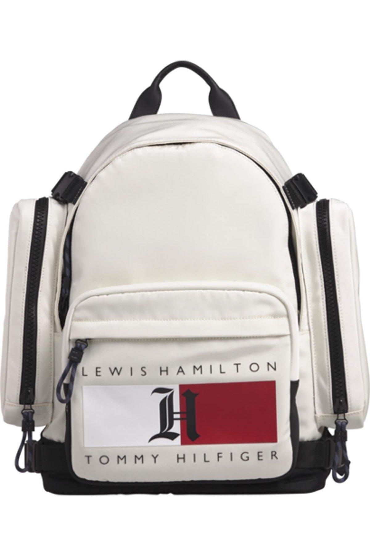 Tommy Hilfiger Erkek Beyaz Lh Nylon Backpack 1