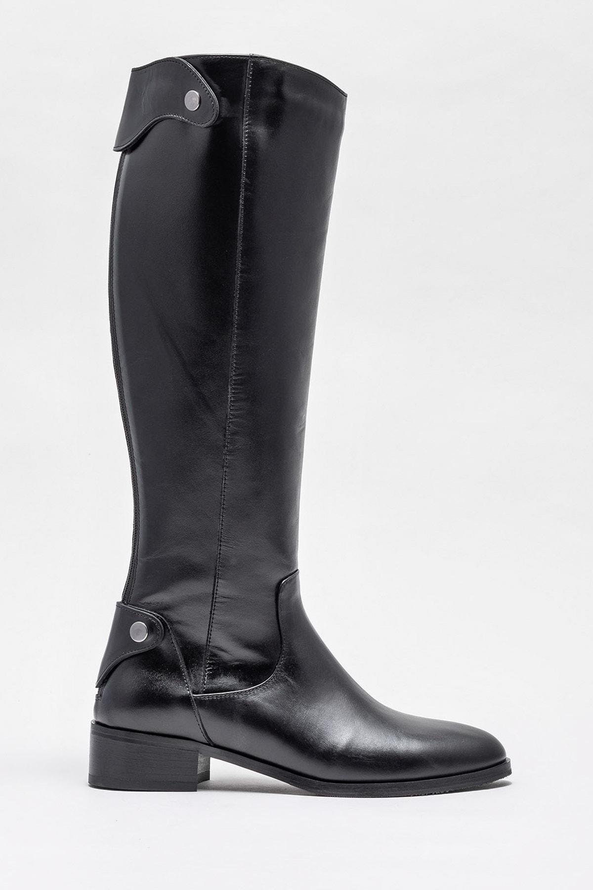 Elle Shoes Kadın Kestrel Sıyah Çizme 20K053 1