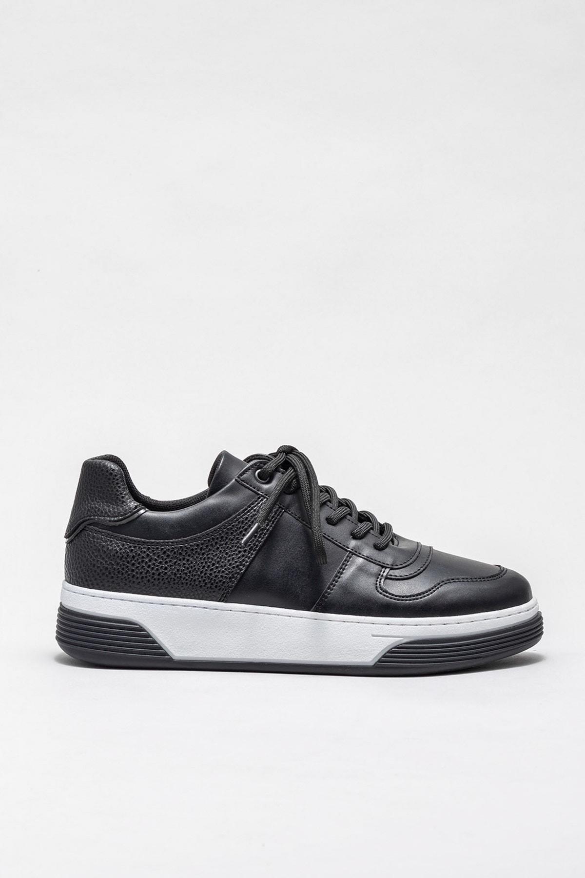 Elle Shoes Kadın Sebert Sıyah Sneaker 20KRG09 1