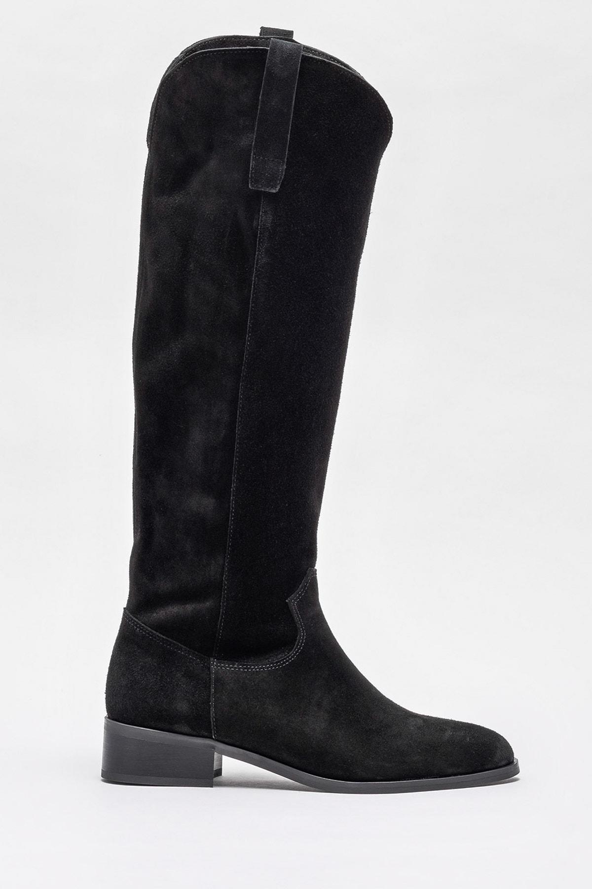 Elle Shoes Kadın Symer Sıyah Çizme 20K009 1