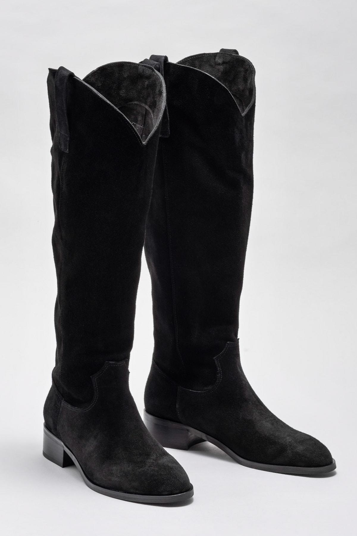 Elle Shoes Kadın Symer Sıyah Çizme 20K009 2