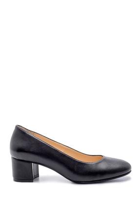 Derimod Kadın Siyah  Kalın Topuklu Ayakkabı