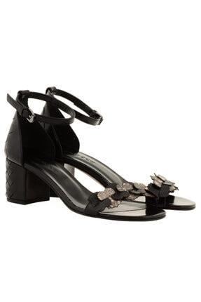 Nursace Kadın Siyah Topuklu Sandalet A51072