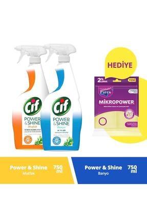 Cif Sprey Power & Shine Mutfak 750 Ml + Banyo 750 Ml