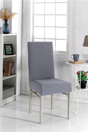 F faiend Gri Sandalye Kılıfı Yıkanabilir Likralı Esnek Lastikli Sandalye Örtü