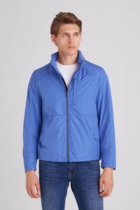 Dufy Mavi Düz Erkek Dış Giyim