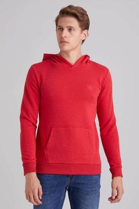 Dufy Erkek Kırmızı Kapüşonlu Sweatshırt