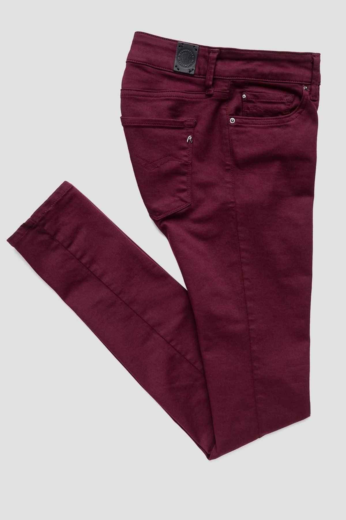Replay Kadın Bordo Jeans 1