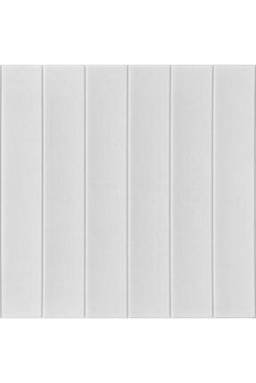 Renkli Duvarlar Nw43 Kendinden Yapışkanlı Beyaz Ahşap Kendinden Yapışkanlı Esnek Duvar Paneli 70x77 Cm 6 Adet