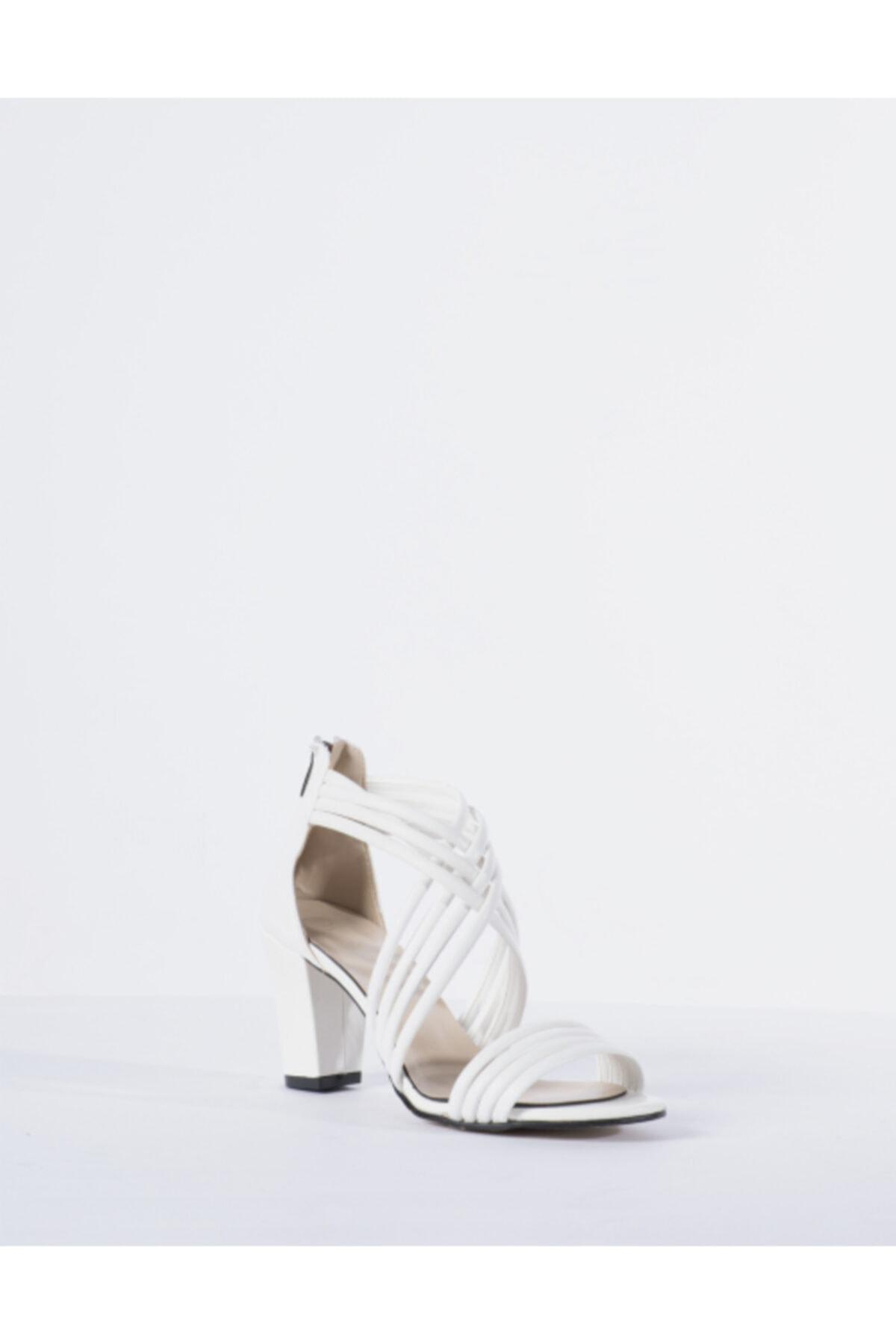 Vision Kadın Beyaz Topuklu Ayakkabı 2