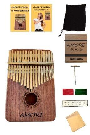 AMORE 17 Tuşlu Maun Kalimba-parmak Piyano-türkçe Kullanım Klavuzu-120 Popüler Şarkı Notası-komple Set