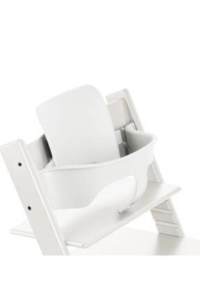 Stokke Tripp Trapp Ahşap Mama Sandalyesi Babyset / Kırık Beyaz