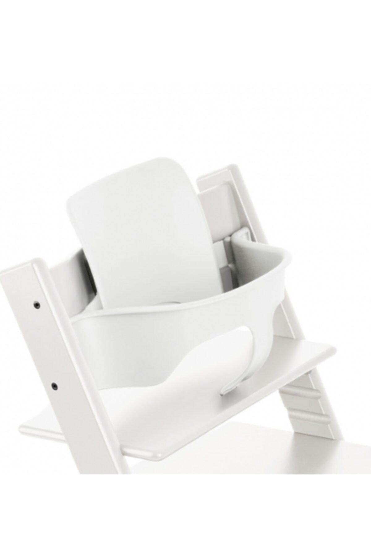 Stokke Tripp Trapp Ahşap Mama Sandalyesi Babyset / Kırık Beyaz 1