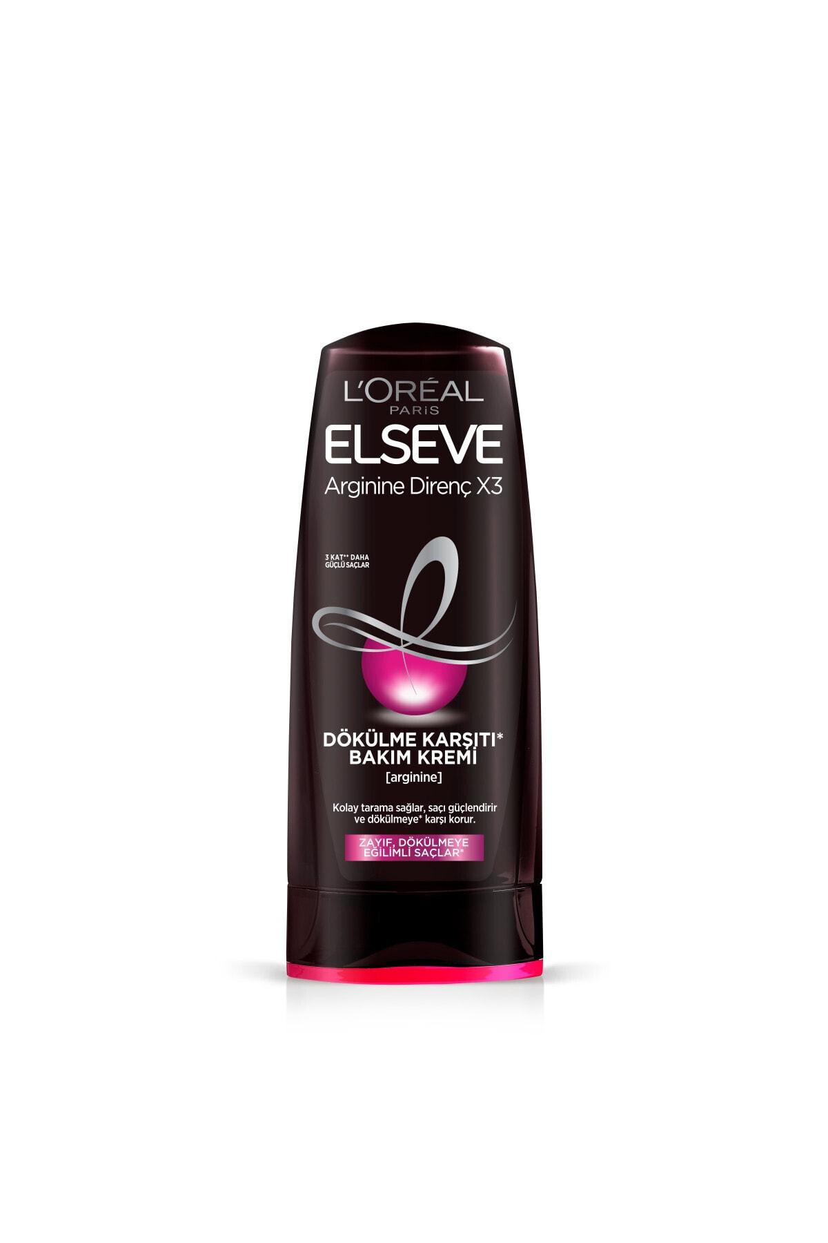 ELSEVE Arginine Direnç X3 Dökülme Karşıtı Şampuan 450ml & Saç Kremi 360 Ml & Bakım Kremi 200 Ml 2