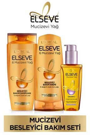 ELSEVE 6 Mucizevi Yağ Bakım Şampuan 450ml & Saç Kremi 360 Ml & Yıpranmış Saçlar Için Saç Bakım Yağı