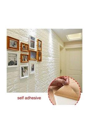 Renkli Duvarlar Kendinden Yapışkanlı Sünger Beyaz Tuğla Duvar Paneli 70x77 Cm Nw01 1 Adet 8,5mm