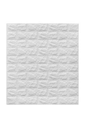 Renkli Duvarlar Nw01 Kendinden Yapışkanlı Panel Sünger Beyaz Tuğla Duvar Kağıdı Kaplama Paneli 70x77 Cm
